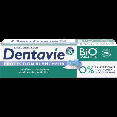 Dentifrice soin blancheur - Bicarbonate et critaux de menthol bio - Dentavie - Hygiène
