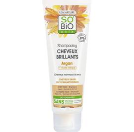 Shampooing cheveux brillants argan-acide oléique - So'bio étic - Cheveux