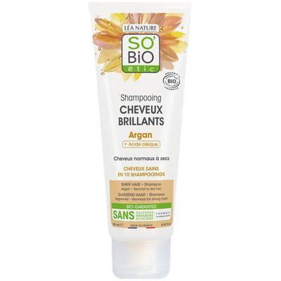 Shampooing cheveux brillants argan-acide oléique - So'bio étic - Cheveux