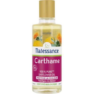 Huile de carthame - 100% pure** - protège la couleur - Natessance - Cheveux