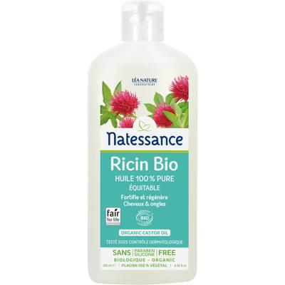 Huile de Ricin Bio 100% pure équitable - cheveux & ongles - Natessance - Corps - Cheveux