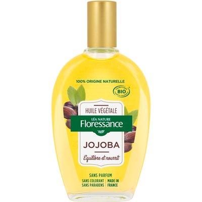 Huile végétale Jojoba - équilibre et nourrit - Floressance - Visage - Cheveux - Massage et détente