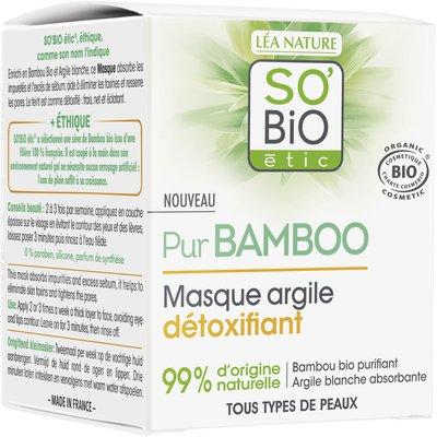 Masque argile détoxifiant  - Pur Bamboo - So'bio étic - Visage