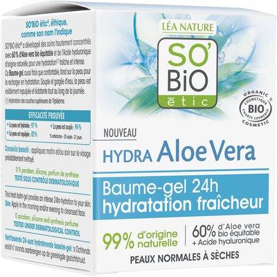 Baume-gel 24h hydratation fraîcheur - Hydra Aloe Vera - So'bio étic - Visage