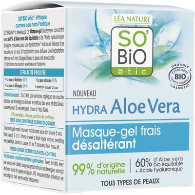 Fresh thirst-quenching gel mask - Hydra Aloe Vera - So'bio étic - Face