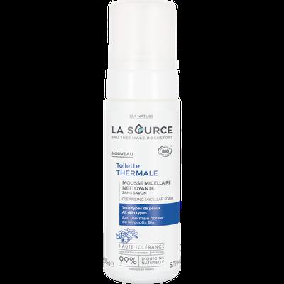 Mousse micellaire nettoyante - Toilette thermale - La Source - Eau Thermale Rochefort - Visage