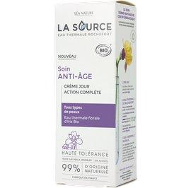 Crème jour action complète - Soin anti-âge - La Source - Eau Thermale Rochefort - Visage
