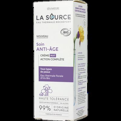 Crème nuit action complète - Soin anti-âge - La Source - Eau Thermale Rochefort - Visage