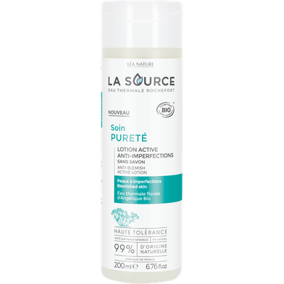 Lotion active anti-imperfections - Soin pureté - La Source - Eau Thermale Rochefort - Visage