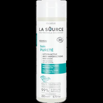 Lotion active anti-imperfections - Soin pureté - La Source - Eau Thermale Rochefort - Visage