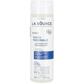 Lait micellaire démaquillant - Toilette thermale - La Source - Eau Thermale Rochefort - Visage