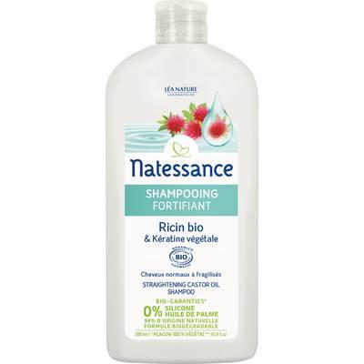 Shampooing fortifiant - ricin bio & kératine végétale - Natessance - Cheveux