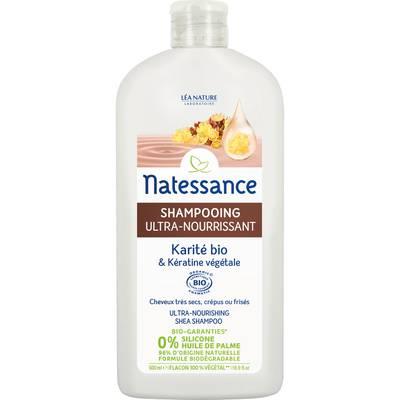 Shampooing ultra-nourrissant - Karité bio & Kératine végétale - Natessance - Cheveux