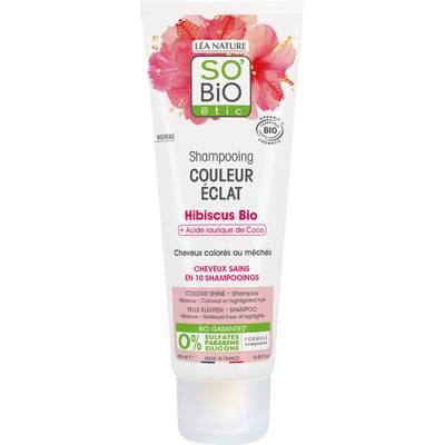Shampooing Couleur Eclat - Hibiscus bio + Acide laurique de Coco - So'bio étic - Cheveux