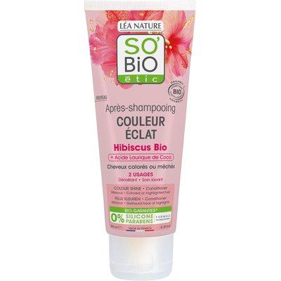 Après-shampooing Couleur Eclat - Hibiscus bio + Acide Laurique de Coco - So'bio étic - Cheveux