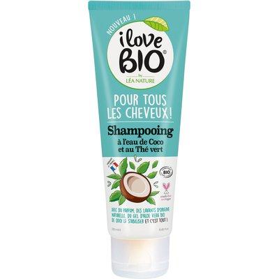 Shampooing pour tous les cheveux à l'eau de coco et thé vert - I Love Bio by Léa Nature - Cheveux