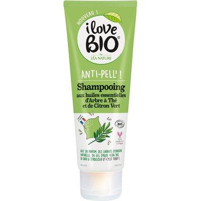 Shampooing Anti-Pell' aux huiles essentielles d'Arbre à Thé et de Citron Vert - I Love Bio by Léa Nature - Cheveux