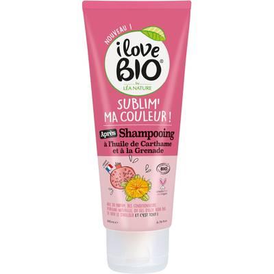 Après-shampooing Sublim' ma couleur ! à l'huile de Carthame et à la Grenade - I Love Bio by Léa Nature - Cheveux