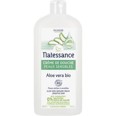Crème de douche peaux sensibles - Aloe vera bio - Natessance - Hygiène
