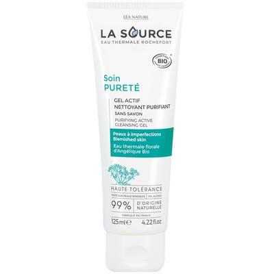 Gel actif nettoyant purifiant - Soin Pureté - La Source - Eau Thermale Rochefort - Visage