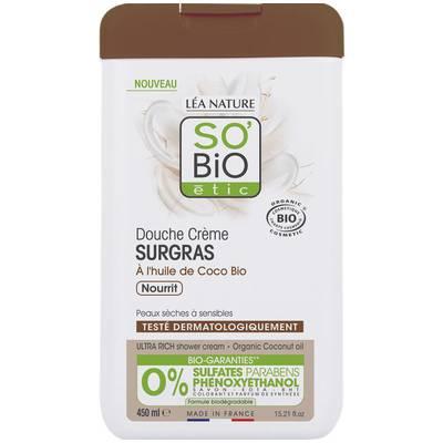 Douche crème surgras - Huile de coco  - nourrit - So'bio étic - Hygiène