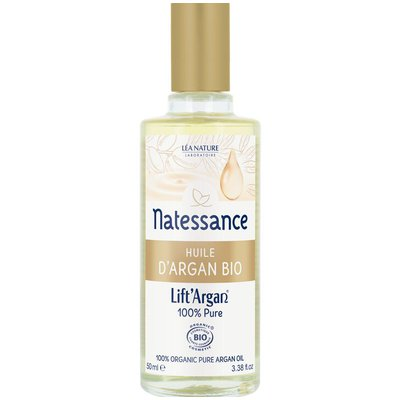 Huile d'argan bio - 100% pure - Lift' Argan - Natessance - Visage - Cheveux - Corps