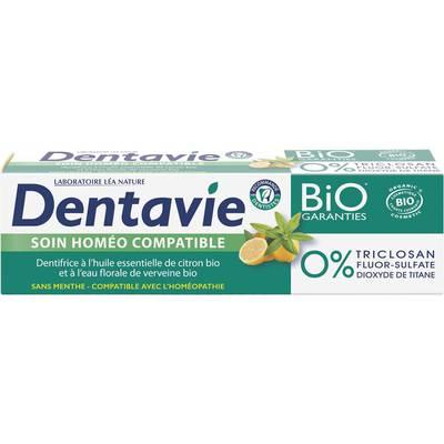 Dentifrice soin homéo-compatible - Verveine et citron bio - Dentavie - Hygiène