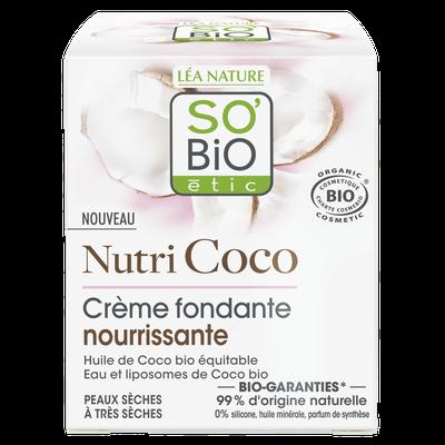 Crème fondante nourrissante - Nutri Coco - So'bio étic - Visage
