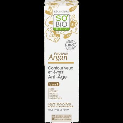 Contour yeux et lèvres anti-âge - Précieux Argan - So'bio étic - Visage