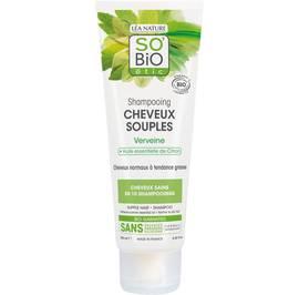 Shampooing cheveux souples - Verveine et huile essentielle de citron - So'bio étic - Cheveux