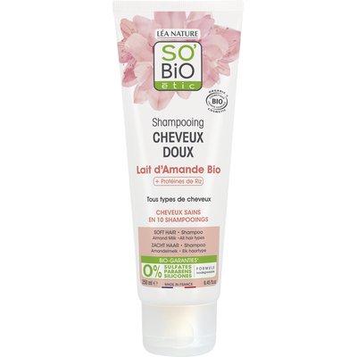 Shampooing cheveux doux, lait d'amande et protéines de riz, tous types de cheveux - So'bio étic - Cheveux