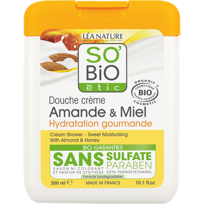Douche crème amande et miel - Hydratation gourmande - So'bio étic - Hygiène