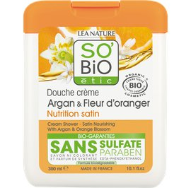 Cream shower - Satin nourishing with argan and orange blossom - So'bio étic - Hygiene