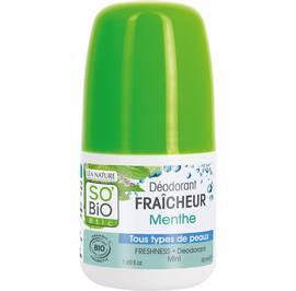Déodorant fraîcheur menthe - Tous types de peaux - So'bio étic - Hygiène