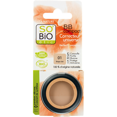 BB compact  - 5-in-1 all purpose concealer - 01 light beige - So'bio étic - Make-Up