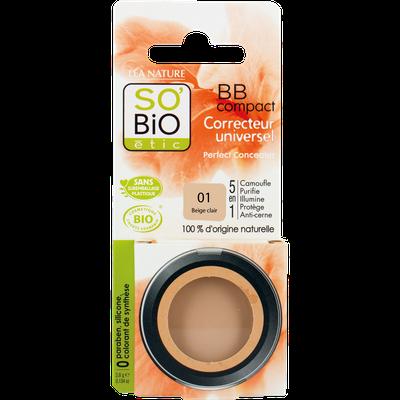 BB Compact correcteur universel 5 en 1 - 01 beige clair - So'bio étic - Maquillage