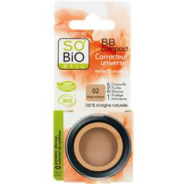 BB Compact correcteur universel 5 en 1 - 02 beige medium - So'bio étic - Maquillage