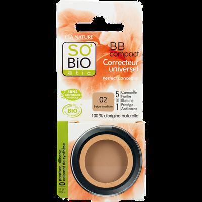 BB Compact correcteur universel 5 en 1 - 02 beige medium - So'bio étic - Maquillage