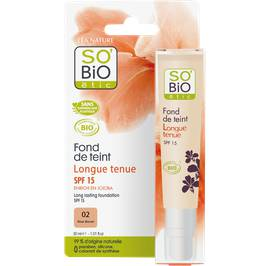 Fond de teint longue tenue SPF 15 - 02 rose discret - So'bio étic - Maquillage