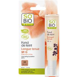 Fond de teint longue tenue SPF 15 - 04 sable chaud - So'bio étic - Maquillage