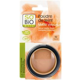 Poudre de teint matité velours - 02 beige doré - So'bio étic - Maquillage