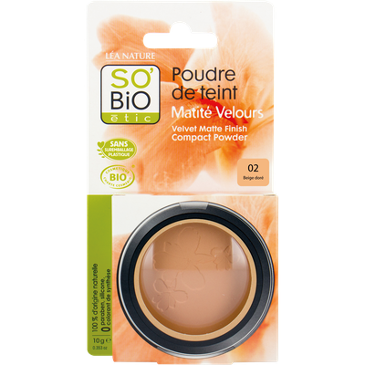 Face powder - velvety matt finish - 02 light beige - So'bio étic - Make-Up