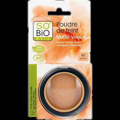 Face powder - velvety matt finish - 02 light beige - So'bio étic - Makeup
