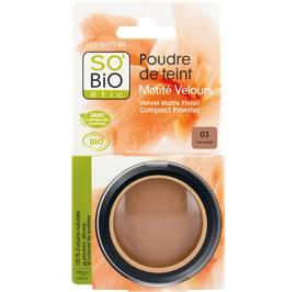 Poudre de teint matité velours - 03 terre soleil - So'bio étic - Maquillage