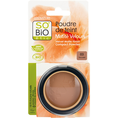 Face powder - velvety matt finish - 03 golden sun - So'bio étic - Make-Up