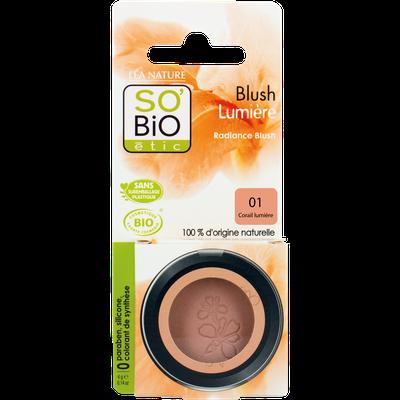 Blush lumière - 02 corail lumière - So'bio étic - Maquillage