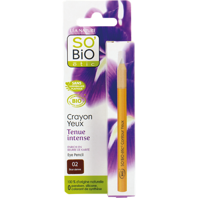 Crayon yeux tenue intense - 02 brun sienne - So'bio étic - Maquillage