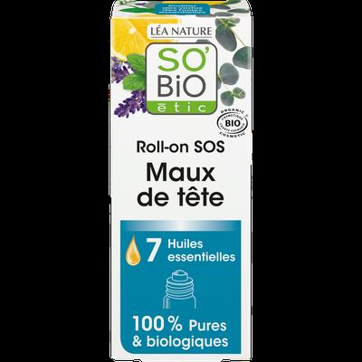 Roll-on SOS maux de tête, aux 7 huiles essentielles bio - So'bio étic - Massage et détente