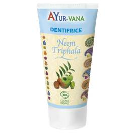 Dentifrice Neem & Triphala - AYURVANA - Hygiène