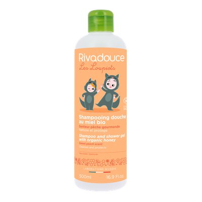 Shampoo and shower gel with organic honey sweet peach scent - RIVADOUCE - Hair - Baby / Children